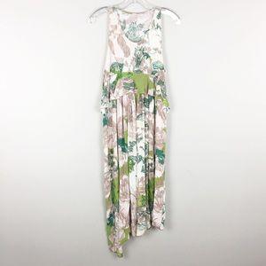 H&M | Abstract Green Print Dress - M5